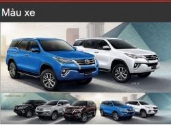 Đánh giá màu xe Toyota Fortuner 2016