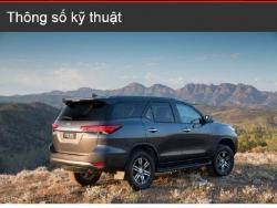 Đánh giá thông số kỹ thuật xe Toyota Fortuner 2016