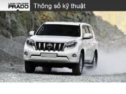 Đánh giá thông số kỹ thuật xe Toyota Land Cruiser Prado 2016