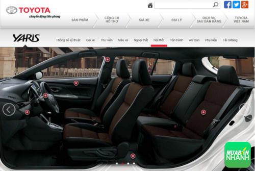 Đánh giá nội thất Toyota Yaris 2016