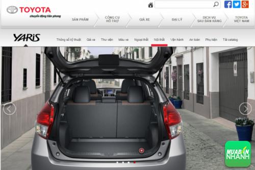 Hàng ghế sau Toyota Yaris 2016