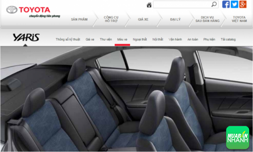 Ghế ngồi ôtô Toyota Yaris 2016
