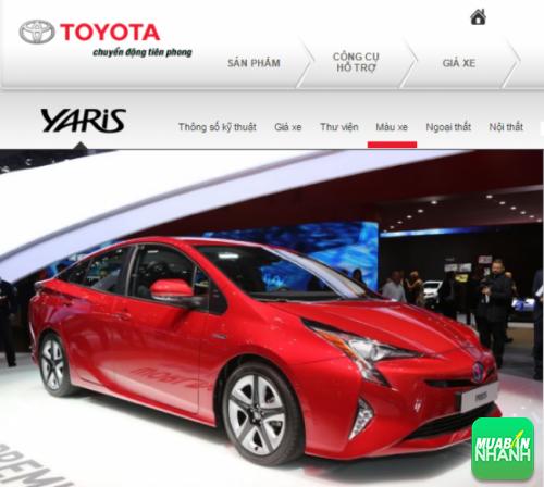 Thông số kỹ thuật ngoại thất Toyota Yaris 2016