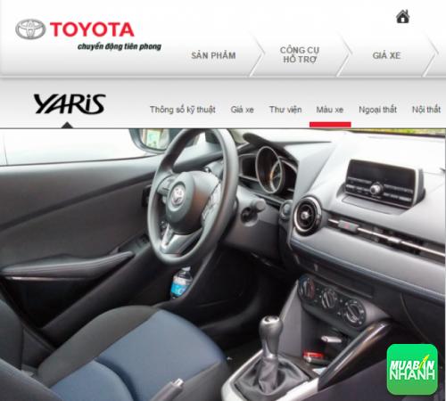 Nội thất Toyota Yaris 2016