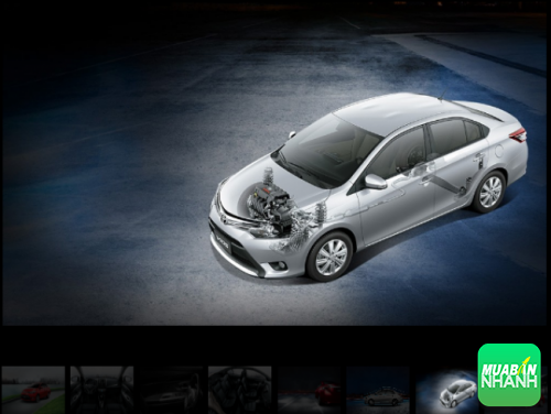 Động cơ Toyota Vios 2016 mạnh mẽ đáng tin cậy cho phép tăng tốc êm ái