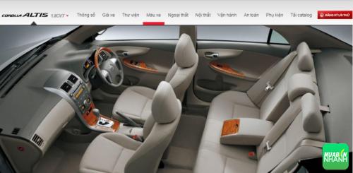 Ghế ngồi Toyota Corolla Altis 2017