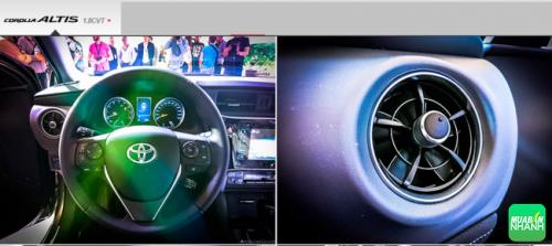Thiết kế nội thất Toyota Corolla Altis 2017