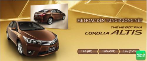 Thông số kỹ thuật ngoạithất Toyota Corolla Altis 2017