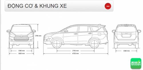 Động cơ và khung xe Toyota Innova 2016