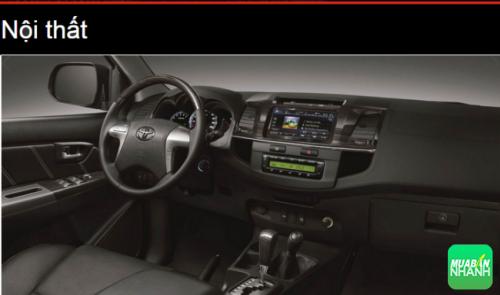 Đánh giá nội thất Toyota Fortuner 2016