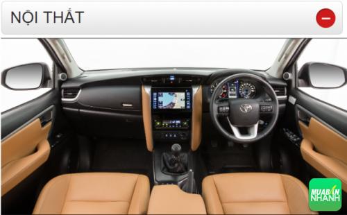 Thông số kỹ thuật nội thất Toyota Fortuner 2016