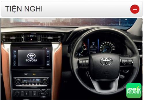 Thông số kỹ thuật trang bị tiện nghi Toyota Fortuner 2016