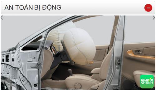 Thông số kỹ thuật an toàn bị động Toyota Fortuner 2016