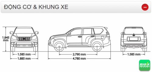 Động cơ và khung xe Land Cruiser Prado 2016