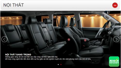 Thông số kỹ thuật nội thất Toyota Land Cruiser Prado 2016