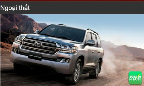 Đánh giá ngoại thất Toyota Land Cruiser 2016