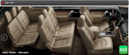 Thông số kỹ thuật Nội thất Toyota Land Cruiser 2016