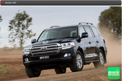 Thông số kỹ thuật ngoại thất Toyota Land Cruiser 2016