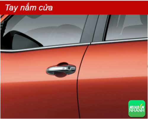 Tay nắm cửa Toyota Hilux 2016