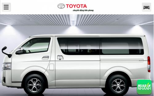 Hông xe Toyota Hiace 2016