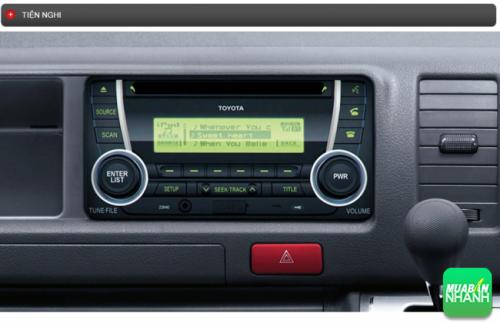 Thông số kỹ thuật trang bị tiện nghi Toyota Hiace 2016