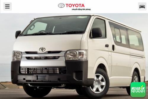 Điểm hạn chế trên Toyota Hiace 2016