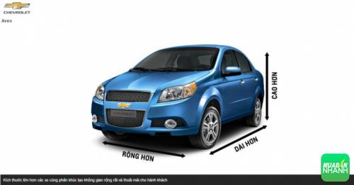 Kích thước Chevrolet Aveo 2016