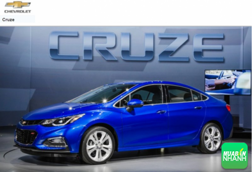 Kích thước Chevrolet Cruze 2016